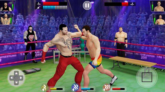 Tag team wrestling 2019: Cage death fighting Stars ScreenShot3
