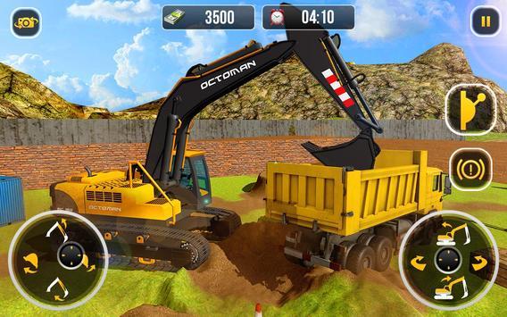 Heavy Excavator Crane  City Construction Sim 2017 ScreenShot3