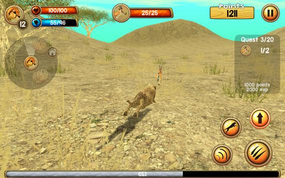 Wild Cheetah Sim 3D ScreenShot3