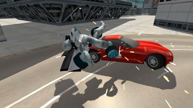 Flying Car Robot Flight Drive Simulator Game 2017 ScreenShot3