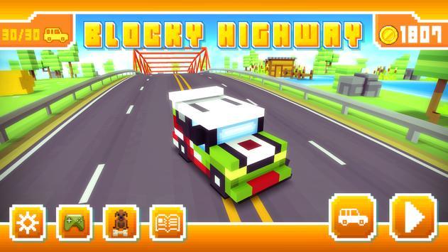 Blocky Highway: Traffic Racing ScreenShot3