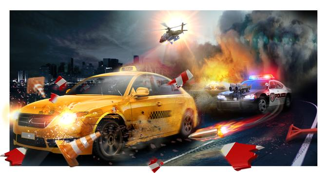 Police Chase Death Race Speed Car Shooting Racing ScreenShot3
