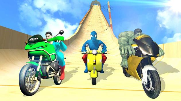 Super Hero Bike Mega Ramp ScreenShot3