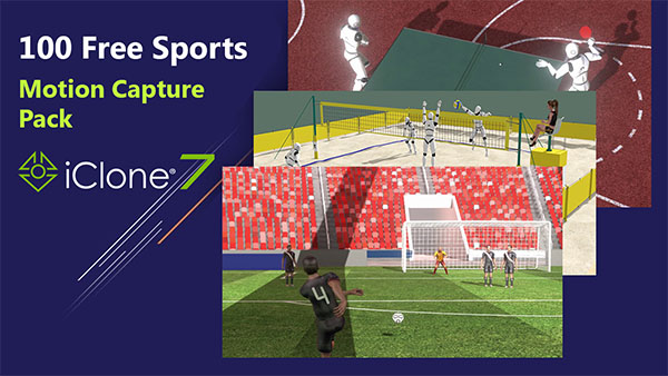 iClone 3D Animation - 100 Free Sports motion capture